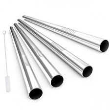 Stainless Steel Drinking Straws, Alink Extra Wide Long Reusable Fat Boba Metal S