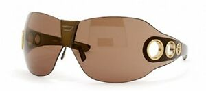 Diesel Sister Yes 1 Brown Gold Metalized Sunglasses Made In Slovenia RARE! HKLPH