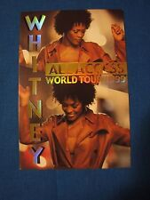 Whitney 1999 World Tour All Access Backstage pass Unused