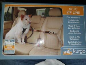 Kurgo Auto Zip Leine und Haltegurt für Hunde Autogurt Auto