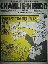 CHARLIE HEBDO 523 BONNES VACANCES PAR CABU CHARB HONORé WOLINSKI MOUGEY JUL 2002