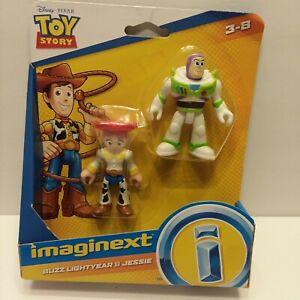 Imaginext  Toy Story 4  Disney Pixar  Buzz Light year & Jessie Figures New