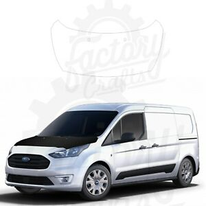Carbon Fiber Vinyl Decal Hood Wrap for Ford Transit Connect 2021
