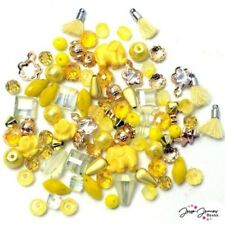 Jesse James Mini Mix Bead Set LEMON YELLOW SUN 9732 Bead Mix  FREE US SHIPPING