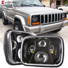 "2pcs 5X7"" 7x6""Inch LED Headlight Hi/Lo Sealed Beam For Jeep Cherokee XJ YJ Truck"
