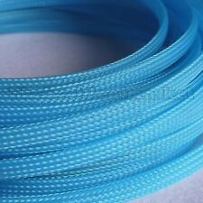 4mm High Density Expandable Braided PET Premium Cable Sleeve 3 Ft USA UV Blue