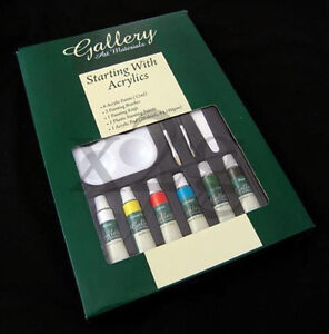 Acrylics Painting Set - Pad, Knife, 6 Paints, 2 Brush - Gallery