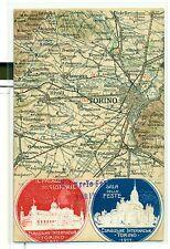 ESPOSIZIONE INTERNAZ. TORINO 1911 Mappa Stradale con erinnofili