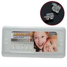 ABSOLUTE Dental Ortho Bracket Brace Sapphire Ceramic Mini Roth.022 345 Hook