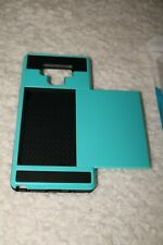 New Case Samsung Galaxy Note 9 Hybrid ComboCase ID Compartment Black/Teal Ret$22
