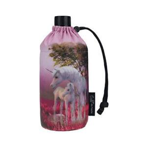 Emil - Flasche Einhorn 0,4 L .- 30°C waschbar, pink, pastell Töne