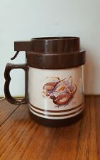 THERMO SERV VINTAGE INSULATED RING NECKED PHEASANT Mug with sealing lid   c