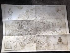 Assassins Creed Paris Map A3 Size Official Ubisoft Promo PS3 PS4 Xbox One 360