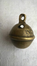 Ancien grelot bronze laiton 7 incassable P8Q chien animaux chasse 35 mm