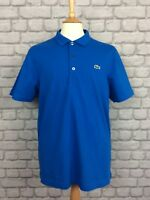 LACOSTE SPORT MENS UK L SIZE 5 BLUE POLO SHIRT TOP T-SHIRT TEE CASUAL SUMMER