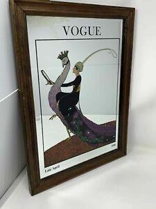 Vintage Vogue Mirror George Wolfe Plank Late April 1918 Worn Silvering