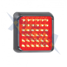 LED Autolamps Rear Red LED Light / Lamp 100mm Square Stop and Tail Functions