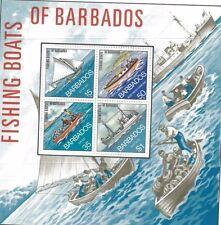 BARBADOS SOUVENIR SHEET #395a MNH / Fishing Boats - FB5