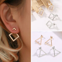 Double Sided Fashion Simple Jewelry Triangle Dangle Small Geometric Earrings ##