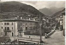 200142 BRESCIA VEZZA D'OGLIO - PONTE Cartolina FOTOGRAFICA viaggiata 1953