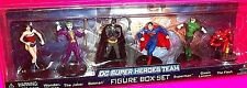 DC Super Heroes Team ACTION FIGURE Set Batman Superman Wonder Woman Joker Flash