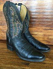 Men's Tony Lama Genuine Ostrich Skin Western Cowboy Boots 9 D