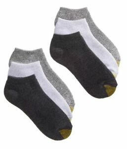Gold Toe Women's Ankle Cushion No Show 6 Pack Socks, Size 9-11 fits shoe  6-9