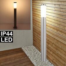 LED Lámpara de Pie Parque Exterior Iluminación Vías Acero Inox. Columna Jardín