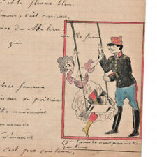 1907 military soldier manuscript lyrics Don't cry if I leave you song drawings
