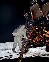 Apollo 11 Lunar Moon Landing Mission NASA Astronaut Buzz Aldrin Historical Photo
