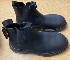 Men's Black Steel Toe Cap Soul Mate Work/Chelsea/Trader Boots Size UK 5/ EU 38