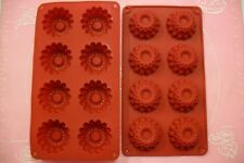MOULE SILICONE SOUPLE 8 PETITS FOURS / FLEUR 29 X 16 CM