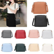 Women PU Leather Shoulder Bag Mini Zipper Crossbody Messenger Bags Purse Satchel
