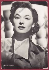 RUTH ROMAN 08a ATTRICE ACTRESS CINEMA MOVIE STAR Cartolina FOTOGRAF. - DEFECTS !