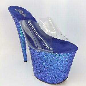 Pleaser Flamingo Glitter Women Sandal Size 10 M NEW DISPLAY AL5943