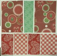 Premade Scrapbook Page Embellish Kit/Card Making (7 pieces): Happy Holidays