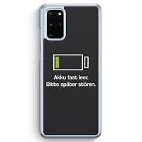 Akku fast Leer - Bitte später stören Grau Hülle für Samsung Galaxy S20+ Plus ...