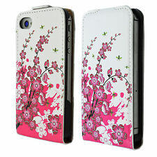 Beautiful Vertical Flip Leather Cover Case Shell For Apple iPhone 4 4G 4S