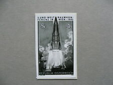 CINDERELLA AUSTRIA, blackprint on paper fragment, UNO space conference 1982