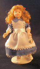 ALICE Doll, Dolls House Miniature Little Female Girl Porcelain Doll 1;12 Scale