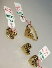 GoldNMore: 18K Gold Jewelry Set Size 6.5 Ring Earrings Pendant TPNG