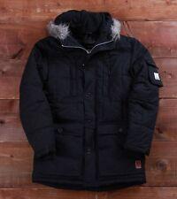 """Voi Jeans Alaska fleece lined quilted fur parka jacket L 42"""" Black BNWT 52% OFF"""