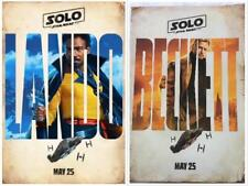 "SOLO: A STAR WARS STORY - 13.5""x20"" D/S Original Promo Movie Poster MINT Lando"