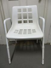 Moulded Plastic Shower Chair with Arms and Back for Increased Stability