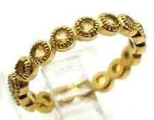 QVC Gold Vermeil Citrine  Sterling Silver 925 Ring 2g Sz.6 BOB739
