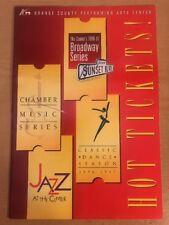 Orange County Performing Arts Center's 1996-97 Broadway Series Brochure