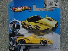 Hot Wheels 2013 #178/250 ENZO FERRARI yellow with black flashes HW showroom