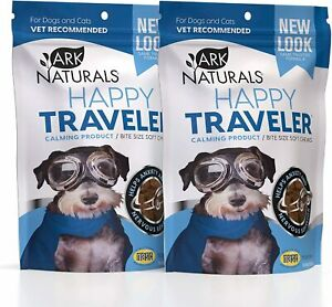 Ark Naturals Happy Traveler, Natural Calming Treats for Dogs & Cats, Reduces...