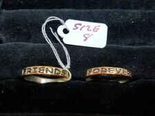 VINTAGE RETRO FASHION GOLD TONE RING BEST FRIENDS FOREVER SIZE 8