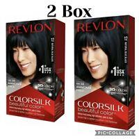 Revlon Colorsilk Permanent 12 Natural Blue Black Hair Color